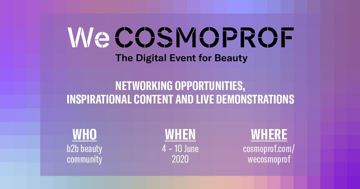 WECOSMOPROF: Cosmoprof Worldwide Bologna a supporto dell'industria cosmetica